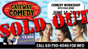 Comedy Workshop SOLD OUT